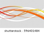 abstract wavy background.... | Shutterstock .eps vector #596401484