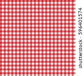 red italian tablecloth. picnic... | Shutterstock .eps vector #596401574