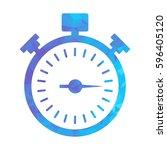 blue modern polygonal icon for... | Shutterstock .eps vector #596405120