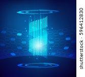 abstract hi tech technological...   Shutterstock .eps vector #596412830