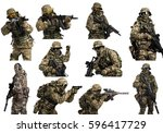 special forces soldier with... | Shutterstock . vector #596417729