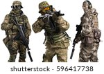 special forces soldier with... | Shutterstock . vector #596417738