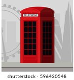 traditional london red... | Shutterstock .eps vector #596430548