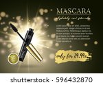 luxury mascara ads  black and... | Shutterstock .eps vector #596432870