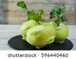 Fresh Kohlrabi With Green...
