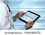 gynecologist with medical...   Shutterstock . vector #596440670