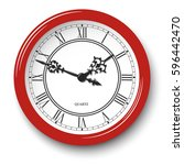 vector elegant roman numeral... | Shutterstock .eps vector #596442470