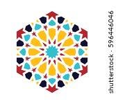 islamic pattern. vector... | Shutterstock .eps vector #596446046