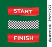 banner set start finish... | Shutterstock .eps vector #596447603