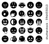 smiley icons set. set of 25... | Shutterstock .eps vector #596455013