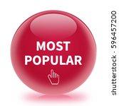most popular icon. internet... | Shutterstock . vector #596457200
