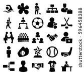 team icons set. set of 25 team... | Shutterstock .eps vector #596458388