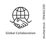 global collaboration vector... | Shutterstock .eps vector #596461100