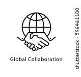 global collaboration vector... | Shutterstock .eps vector #596461100