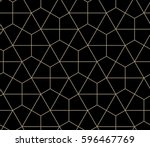 Stock vector seamless geometric pattern simple flat vector illustration lined geometric black seamless pattern 596467769