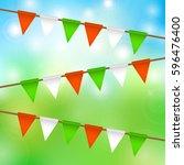 flag garland for st. patrick's...   Shutterstock . vector #596476400