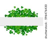 saint patrick's day frame with...   Shutterstock . vector #596476430