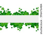 saint patrick's day frame with...   Shutterstock . vector #596476484