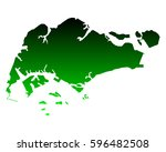 map of singapore | Shutterstock .eps vector #596482508