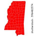 map of mississippi   Shutterstock .eps vector #596482574
