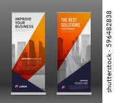 construction roll up banner... | Shutterstock .eps vector #596482838