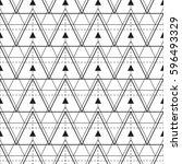 geometric seamless vector line... | Shutterstock .eps vector #596493329