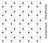 minimalistic seamless vector... | Shutterstock .eps vector #596493350
