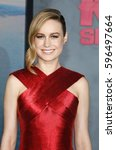 brie larson at the los angeles... | Shutterstock . vector #596497664