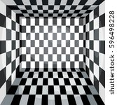 abstract square checkered... | Shutterstock .eps vector #596498228