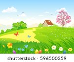 vector cartoon illustration of... | Shutterstock .eps vector #596500259