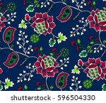 elegance seamless pattern with... | Shutterstock .eps vector #596504330