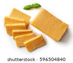 cheddar cheese isolated on... | Shutterstock . vector #596504840
