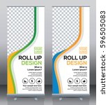 roll up brochure flyer banner... | Shutterstock .eps vector #596505083