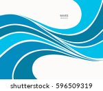 water wave logo abstract design.... | Shutterstock .eps vector #596509319