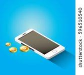 vector digital mobile wallet... | Shutterstock .eps vector #596510540