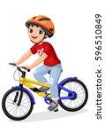 Happy Little Boy In Helmet...