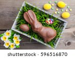 traditional easter decoration... | Shutterstock . vector #596516870