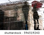 reflection shadow of a young... | Shutterstock . vector #596519243
