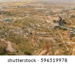 peaceful view of goreme from... | Shutterstock . vector #596519978