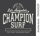 surf typography  tee shirt... | Shutterstock .eps vector #596524229
