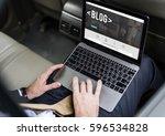 web design blog global website   Shutterstock . vector #596534828