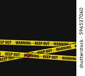 police yellow stripes keep out... | Shutterstock .eps vector #596537060