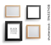 realistic photo frame vector... | Shutterstock .eps vector #596537438