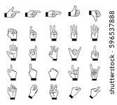 hand  finger  icon | Shutterstock .eps vector #596537888