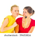 bright and happy three friends | Shutterstock . vector #59653816