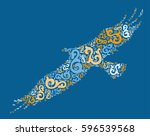 eagle shape vector design... | Shutterstock .eps vector #596539568