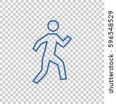 walk icon vector.