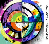 abstract circle background ... | Shutterstock .eps vector #596552954