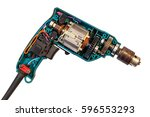 disassembled electric drill...   Shutterstock . vector #596553293