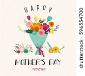 happy mother's day illustration | Shutterstock .eps vector #596554700